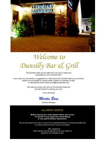 Welcome to Dunsilly Bar & Grill - Dunsilly Hotel