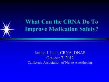 Date - California Association of Nurse Anesthetists
