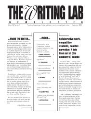 28.1 - The Writing Lab Newsletter