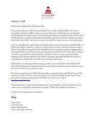 Parental/Guardian Consent Form for Blood Donation - Cannon School