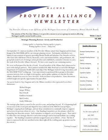 Provider Alliance Newsletter - Synergy Partners,LLC