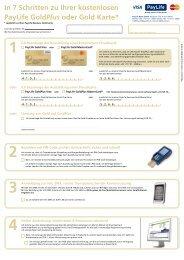 In 7 Schritten zu Ihrer PayLife GoldPlus oder Gold ... - Kreditkarte.at