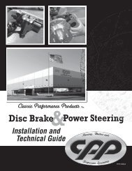 Disc Brake, Power Steering Installation and Technical Guide