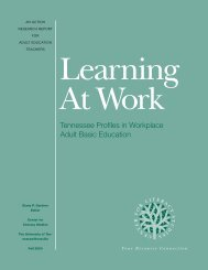 Learning at Work - Center for Literacy, Education & Employment ...