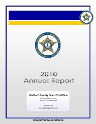 2010 Annual Report - Stafford County Sheriff's Office