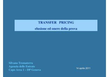 Transfer pricing: elusione ed onere della prova - Liguria - Agenzia ...
