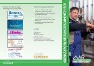 abensberger heizungspumpentausch mit h y dr a ... - Stadt Abensberg