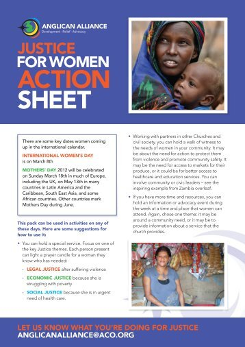 ACTION SHEET - Anglican Communion