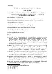 (CE) Nr. 1083/2006 - Ministerul Fondurilor Europene