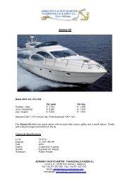 GC Marine Adora 38 - Adriano Yachtcharter