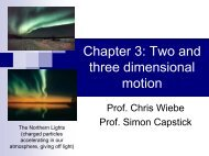 Chapter 3: Two and three dimensional motion - FSU Physics ...