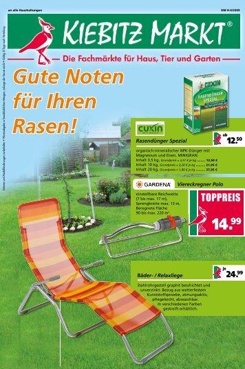 Gute Noten für Ihren Rasen! - Kiebitzmarkt