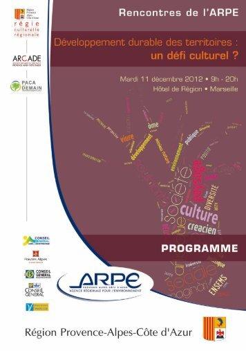 Programme de la journée - Agence régionale pour l'environnement ...