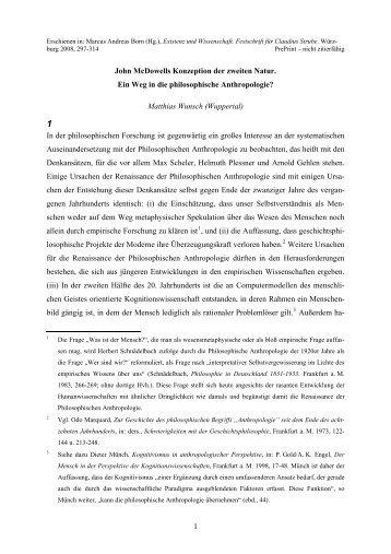 John McDowells Konzeption der zweiten Natur - Philosophie