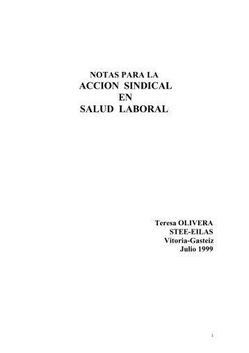 ACCION SINDICAL EN SALUD LABORAL