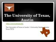 The University of Texas, Austin - Pierce College