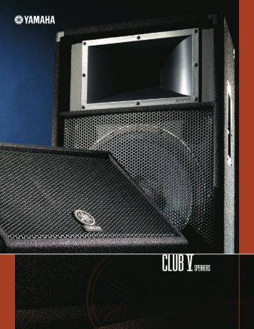 Yamaha Club V Series Speakers - Full Compass