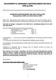 DM FOR HOLD - Dansk Svømmeunion