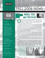 FALL 2006 NEWS - School of Social Work - Michigan State University