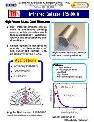 Infrared Emitter IRS Infrared Emitter IRS-001C - Electro Optical ...