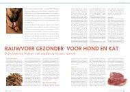 rauwvoer gezonder voor hond en kat - Natuur Diëtisten Nederland