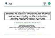 Attempt to classify various molten fluoride mixtures ... - ACSEPT