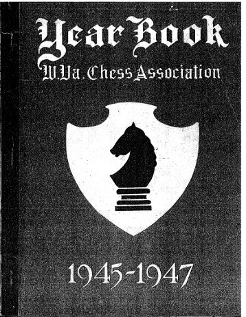 1945-47 Yearbook - West Virginia Chess Association