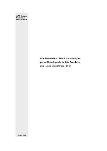 Arte Funerária no Brasil: Contribuições para a Historiografia ... - CBHA