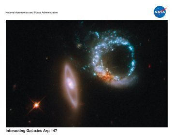 Lithograph: Interacting Galaxies Arp 147 - Amazing Space - STScI