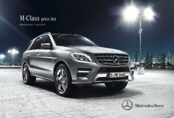 M-Class Price List June 2013.pdf - Mercedes-Benz