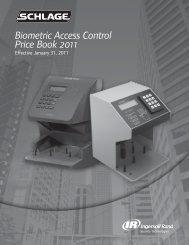 Schlage Biometrics Jan 2011 Pricebook - Access Hardware Supply