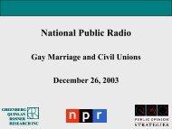 National Public Radio - Greenberg Quinlan Rosner