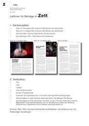 hdk Leitlinien für Beiträge im Zett 1. Zeichenzahlen 2. Textaufbau