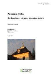 Kungsåra kyrka - Stiftelsen Kulturmiljövård
