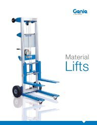 Genie Material Lifts Family Brochure - Access Service and Repair Ltd