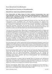 Presse-Information des Umweltbundesamtes Blauer Engel für neue ...