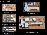 New Jr. High Update August 2012 September 2012 October 2012 ...