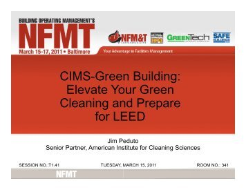 Elevate Your Green Cleaning and Prepare for LEED - NFMT