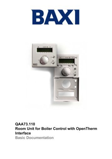 QAA73.110 Room Unit for Boiler Control with ... - AIRCO line