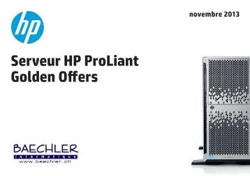 Serveur HP ProLiant Golden Offers