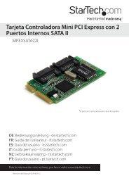 Tarjeta Controladora Mini PCI Express con 2 ... - StarTech.com