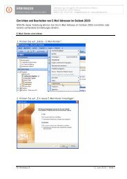 Konfiguration E-Mail/SPAM in Outlook 2003