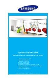 SyncMaster UE46A/ UE55A - visinfo