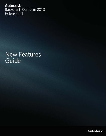 New Features Guide - Autodesk