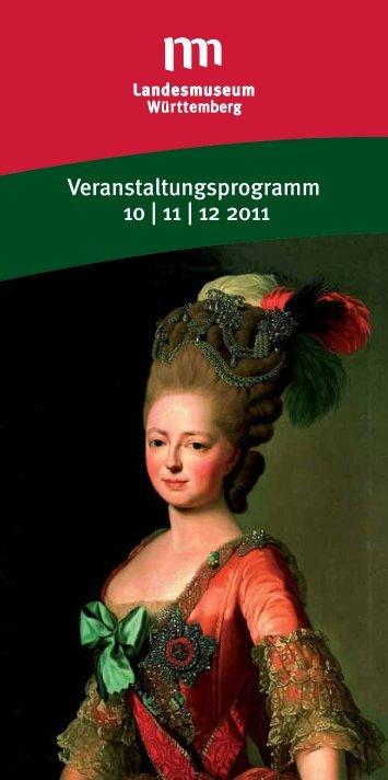 Veranstaltungsprogramm 10   11   12 2011 - Stuttgart