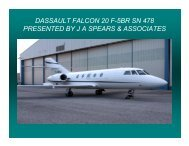 dassault falcon 20 f5br sn 478 presented by j a spears & associates