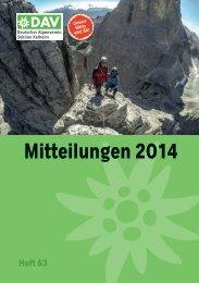 Mitteilungen 2014 - Alpenvereins Kelheim