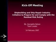 Risk of Implementation Phase I Task 4 - NSRP