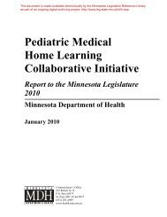 Pediatric Medical Home Learning Collaborative Initiative: Report to ...