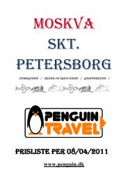 Skt. Petersborg - Penguin Travel